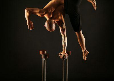 Australian Circus Artists Hand Balance Canes